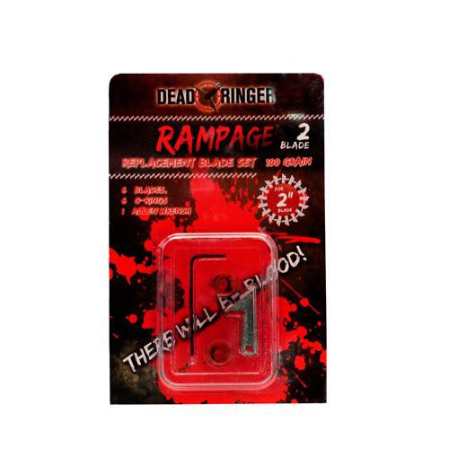 Dead Ringer DR4743 Replacement Blades Rampage, 2 Blade, 100 Grains, 2 in.  Blade