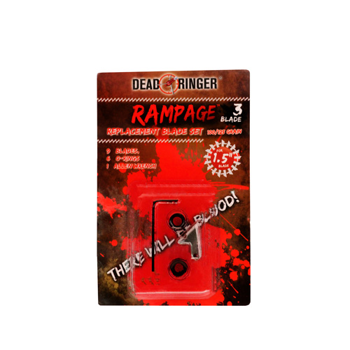 Dead Ringer DR4750 Replacement Blades Rampage 3, 100|125 Grains