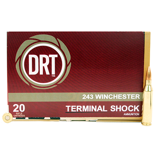 Dynamic Research Technologies 243 Winchester 95 Gr Terminal Shock (Per 20)