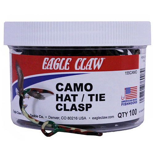 Eagle Claw Camo Hat|tie Clasp Jar