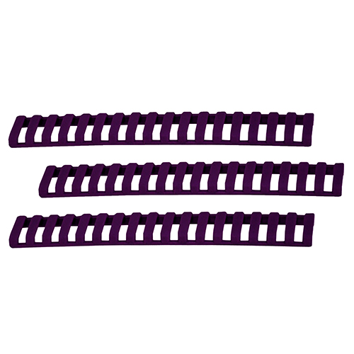 Ergo 18 Slot Ladder Low Pro Rail Covers 3-Pack Purple