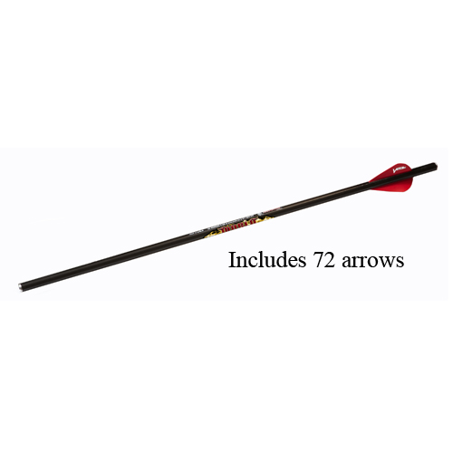 Excalibur Diablo 18-inch Carbon Arrows - (72 Pack)