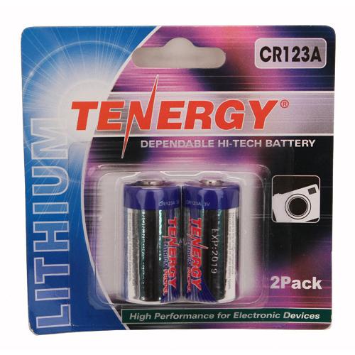 Fenix Flashlights Tenergy CR123 2-Pack Chrome