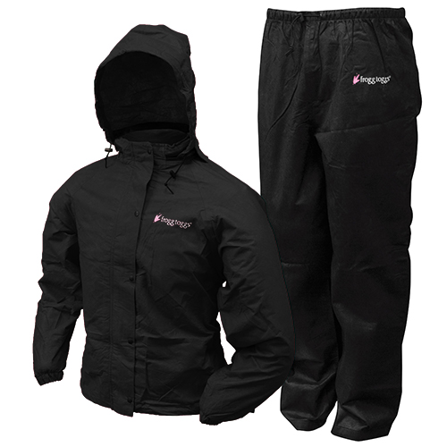 Frogg Toggs Women's All Purpuse Suit Blk MD