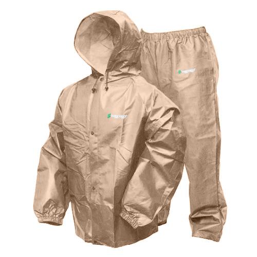 Frogg Toggs Pro-Lite Rain Suit Khaki Small Medium