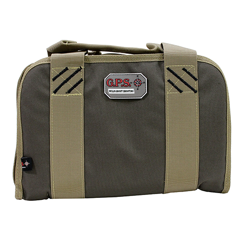 G Outdoors Double Pistol Case,Rifle Green/Khaki