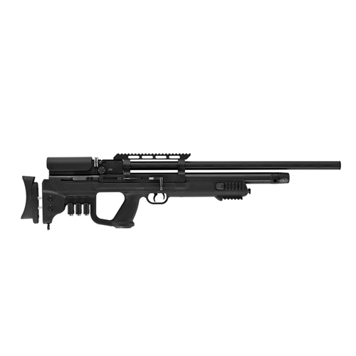 Hatsan Gladius Long PCP Air Rifle .22 Caliber, 23&quot Barrel, 10 Rounds, Black Syn