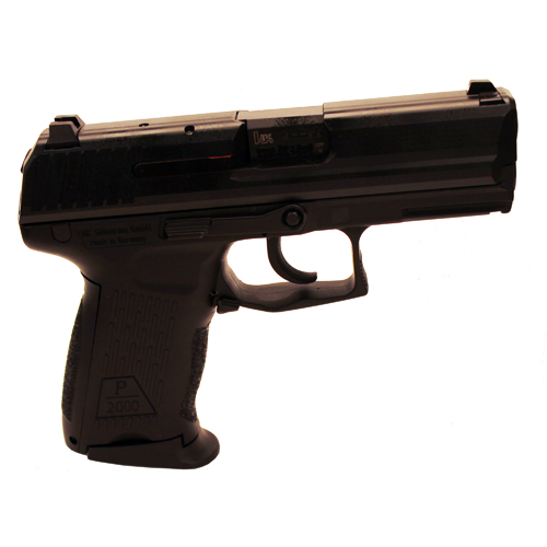 HK 709202A5 P2000 V2 LEM *CA Compliant* 9mm Luger Double 3.66 10+1 Black Interchangeable Backstrap Grip Black Slide in.