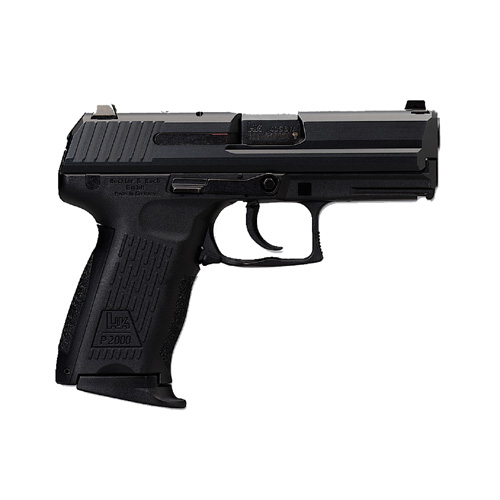 HK M704202A5 P2000 V2 LEM 40 Smith & Wesson (S&W) Double 3.6 12+1 Black Interchangeable Backstrap Grip Black Slide in.