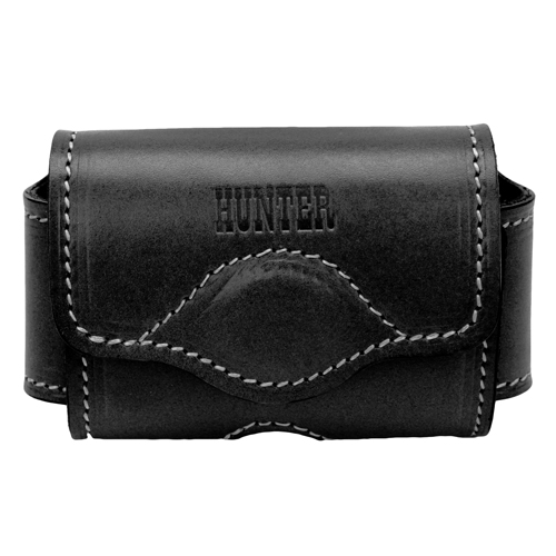 Hunter Adjustable Cell Phone Holster Leather Black