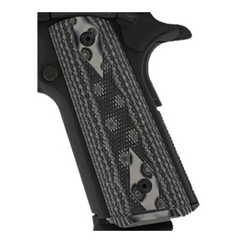 Hogue 01257-BLKGRY Colt 1911 Government Magrip Kit G-10 Checkered Flat Mainspring G-Mascus Black Gray