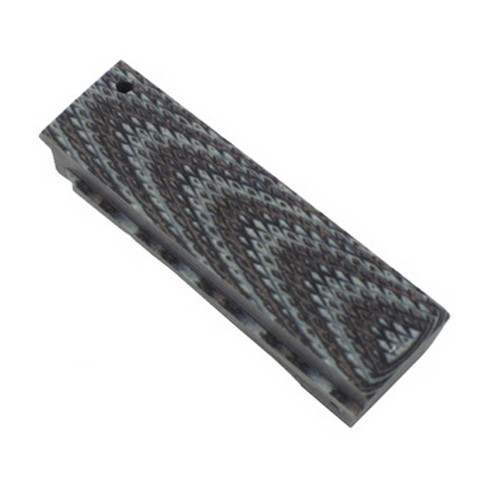 Hogue 01357-BLKGRY Colt 1911 Government Mainspring Housing G-10 Checkered Flat G-Mascus Black|Gray