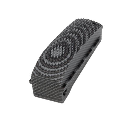 Hogue 01377-BLKGRY Colt 1911 Government Mainspring Housing G-10 Checkered Arched G-Mascus Black|Gray