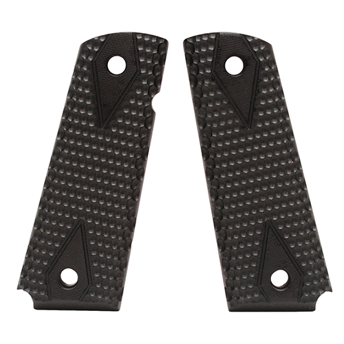Hogue 01429 1911 Government|Commander 9|32 in.  Thick Grips G-10 Pirahna Solid Black