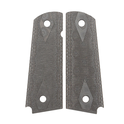 Hogue 01477-BLKGRY 1911 Government Commander 3 16 in.  Thin Grips G-10 Checkered G-Mascus Black Gray