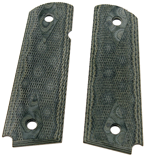 Hogue 01478 1911 Government|Commander 3|16 in.  Thin Grips G-10 Checkered G-Mascus Green