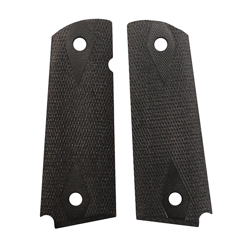 Hogue 01479 1911 Government|Commander 3|16 in.  Thin Grips G-10 Checkered Solid Black