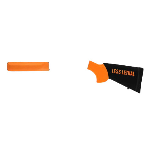 Hogue 05052 Mossberg 500 Less Lethal Overmolded Stock w|Forend 12 in.  Length of Pull Orange