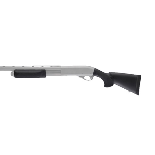 Hogue 08737 Remington 870 20 Gauge OverMolded Stock w|Forend, Black, 12 in.  Length of Pull