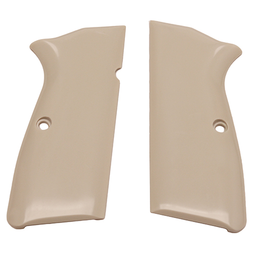 Hogue 09020 Browning Hi-Power Scrimshaw Ivory Polymer Grip Panels Ivory Polymer