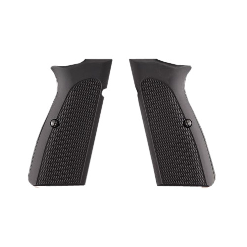 Hogue 09170 Browning Hi Power Grips Checkered Aluminum Matte Black Anodized