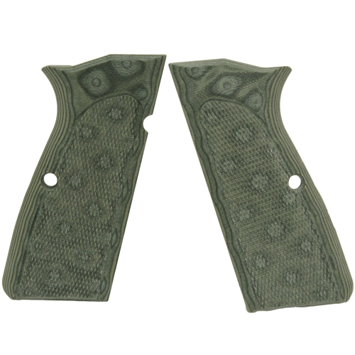 Hogue 09178 Browning Hi Power Grips Checkered G-10 G-Mascus Green