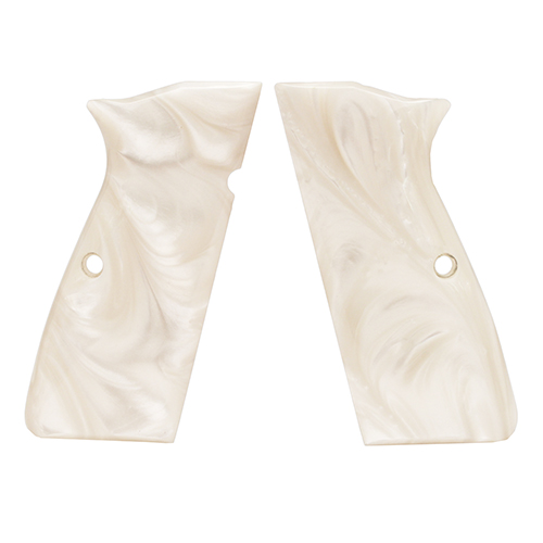 Hogue 09318 Browning Hi Power Grips White Pearl