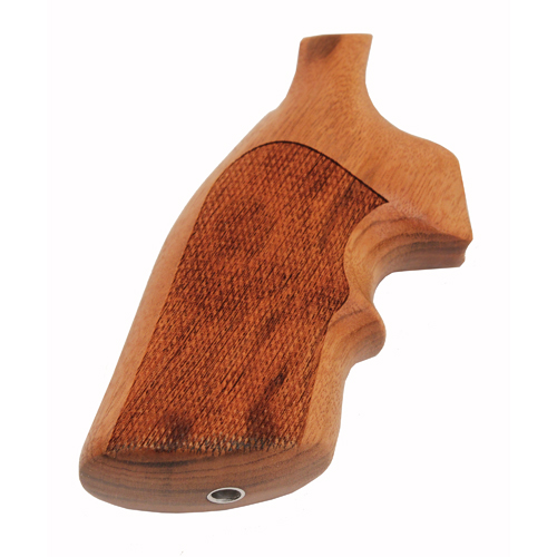 Hogue 10251 S&W K or L Frame Square Butt Grips Goncalo Alves w|Top Finger Groove, Checkered
