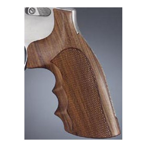 Hogue 10301 S&W K or L Frame Square Butt Grips Checkered Pau Ferro
