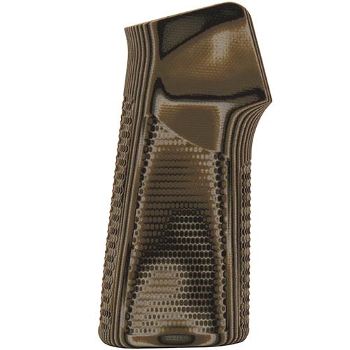 Hogue 13128 AR-15 No Finger Grooves Grip Pirahna G10 G-Mascus Green