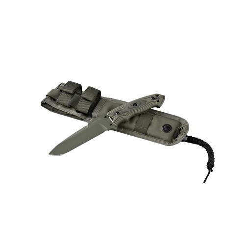 Hogue 35171 EXF01 5 1 2 in.  Drop Point Blade Green Kote Sheath, G10, G-Mascus Green