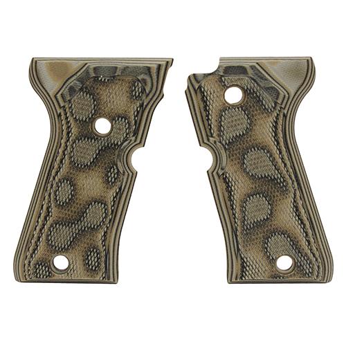 Hogue 93178 Beretta 92 Compact Grips Checkered G-10 G-Mascus Green