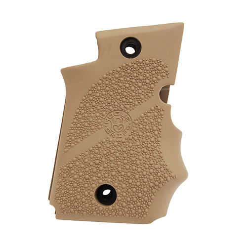 Hogue 98083 Rubber Grip with Finger Grooves Sig P938 w|Ambidextrous Safety Flat Dark Earth
