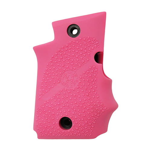 Hogue 98087 Rubber Grip with Finger Grooves Sig P938 w|Ambidextrous Safety Pink