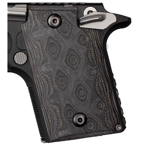 Hogue 98147 Sig P938 Ambidextrous Extreme Series Grip Ambidextrous, G10 G-Mascus Black|Gray