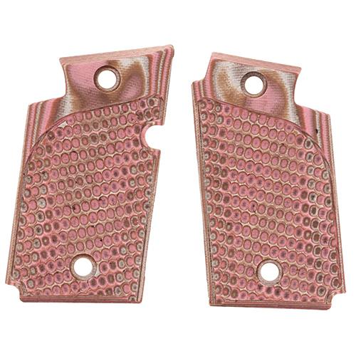 Hogue 98627 Sig P938 Ambidextrous Extreme Series Grip Piranha G-Mascus G10, Pink Lava