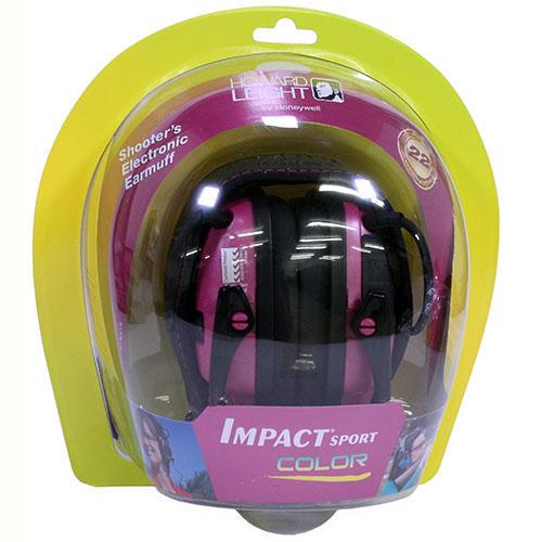 Howard Leight R02523 Impact Sport Electronic Earmuffs Electronic 22 dB Pink