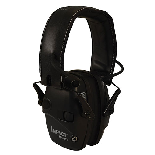 Howard Leight R02524 Impact Sport w|Deluxe Headband Electronic 22 dB Black