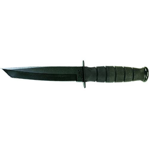 Ka-Bar 1254CP Short Fighting|Utility Knife Tanto, Black (Clam Pack)