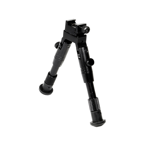 Leapers Inc. Shooter's Rubber Feet Bipod,Ht 6.2 in. -6.7 in.