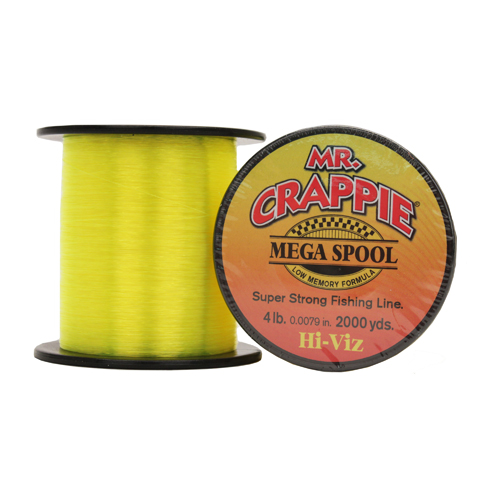 Lews Fishing MC4HV Mr. Crappie Mega Spools HiVis, 4 lb