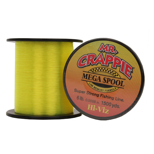 Lews Fishing MC6HV Mr. Crappie Mega Spools HiVis, 6 lb