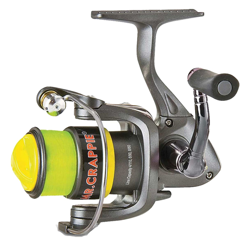 Lews Fishing MCS100 Mr. Crappie Slab Shaker Spinning Reel 100, 4.8:1 Gear Ratio, 2 Bearings, 24 in.  IPT, Ambidextrous