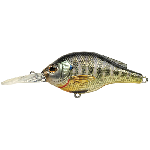LiveTarget Lures BG70M102 Sunfish Bluegill Roundbill Freshwater, 2 3|4 in. , #4 Hook, 5'-6' Depth, Metallic|Gloss