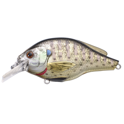 LiveTarget Lures BGS60S102 Sunfish Bluegill Squarebill Freshwater, 2 3|8 in. , #6 Hook, 3'-4' Depth, Metallic|Gloss