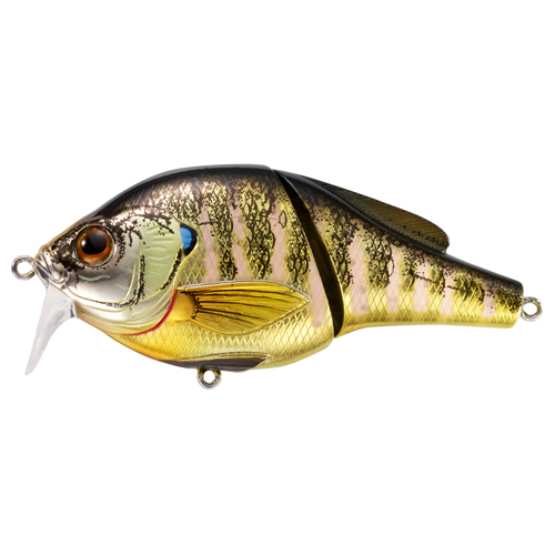 LiveTarget Lures BGW95T102 Sunfish Bluegill Wakebait Freshwater, 3 3|4 in. , #2 Hook, 0'-1' Depth, Metallic|Gloss