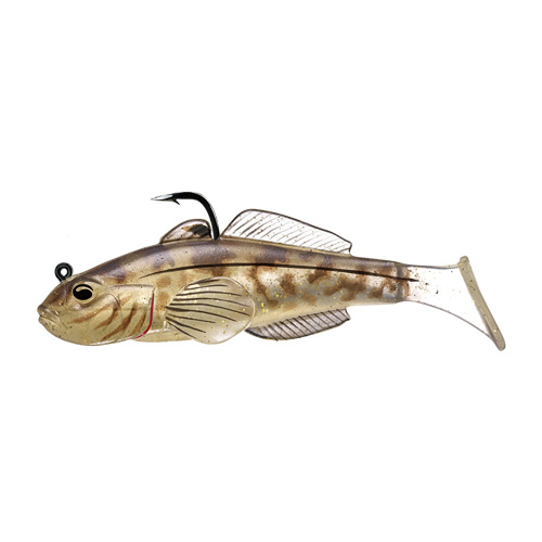 LIVETARGET Goby Paddle Tail - 3-1|4'' - Natural