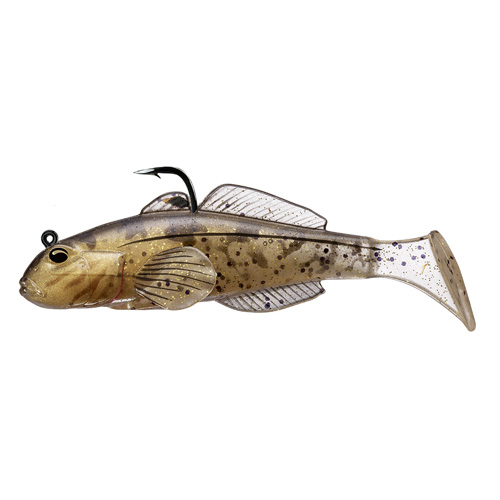 LIVETARGET Goby Paddle Tail - 3-1 4'' - Natural Gold