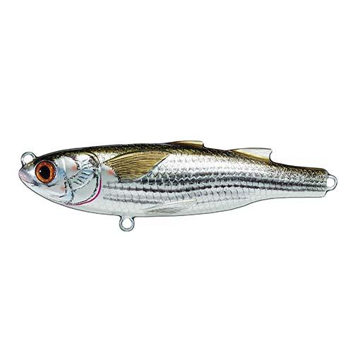 LiveTarget Lures MUT90FT934 Mullet Twitchbait Saltwater, 3 1|2 in. , #4 Hook, 0 in. -6 in.  Depth, Silver|Brown