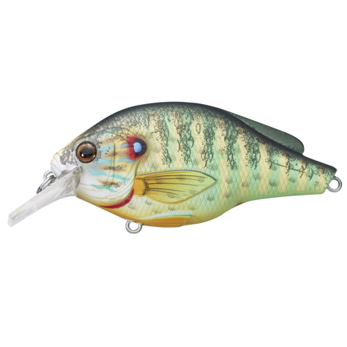 LiveTarget Lures PSS60S100 Pumpkinseed Flat Side Squarebill Freshwater, 2 3|8 in. , #6 Hook, 3'-4' Depth, Natural|Matte